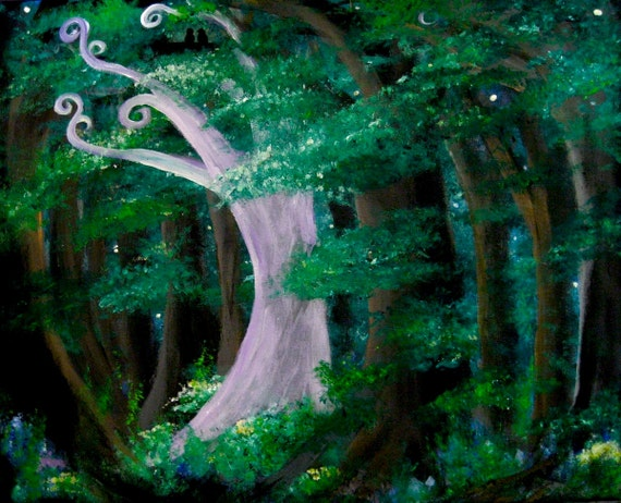 Enchanted Forest With Fairies Fairy Tale Enchanted