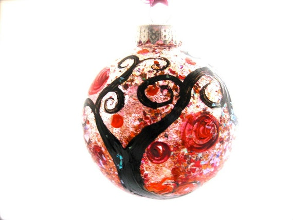 Sleepy Hollow hand painted glass ornament