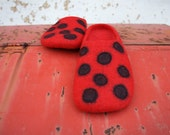 RandB spotted felted slippers MADE TO ORDER