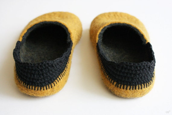 Sale Felted slippers Step. on Ready for dispatch now.Women's size: EU 40-41,  / US 10 / UK 8