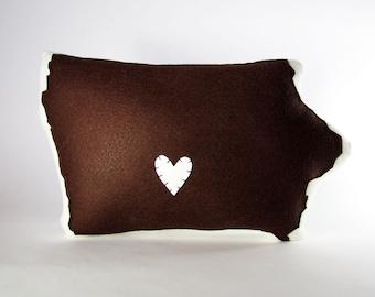 Customizable Iowa State Pillow