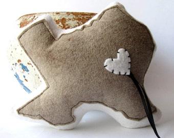 Customizable Texas State Ring Bearer Pillow