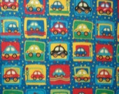 40% off in-stock Generous Size Throw Sot Fleece Bright Primary Colors Cars Blanket Your Boy Will Love To Snuggle