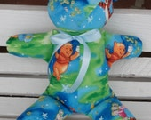 Bear Favorite Pooh & Tigger Chasing Fireflies fabric Bright spring colors stuffed toy for young at heart of all ages