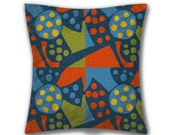Abstract Flower, Cotton Cushion, UK