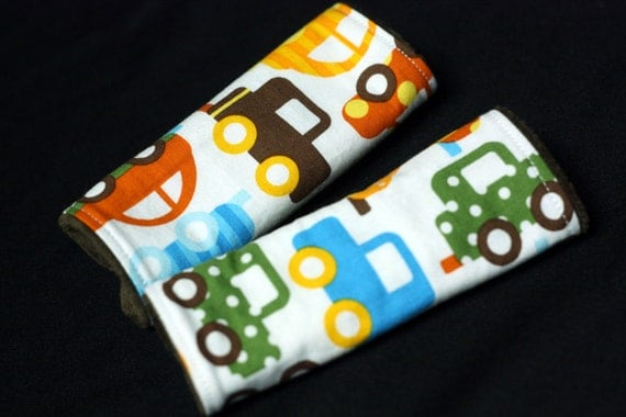 Lil'Adi Car Seat Strap Covers - CUSTOM- you pick your fabric over 200 prints to pick from