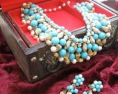 Egyptian Dream - Vintage Turquoise Collar and Earring Set