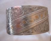 Circa 1880 Victorian Silver Cuff