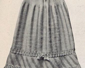 1916 Vintage Ladies Crochet A line Skirt, PDF Crochet Pattern, fast easy download