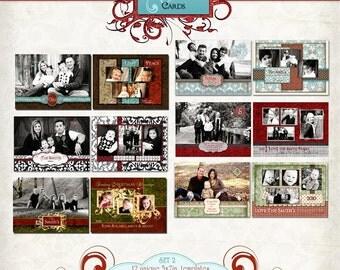 Christmas Photo Card-Christmas Buckle Set 2 Templates