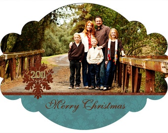Christmas Photo Card-Set 19 ****Instant Download****