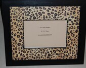 Cheetah Animal Print Wooden Picture Frame