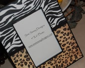 Zebra and Leopard Animal Print Wooden Picture Frame