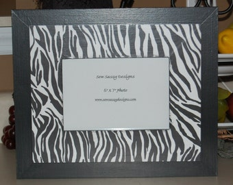 Zebra Print Wooden Picture Frame