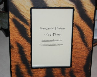 Tiger Print Picture Frame
