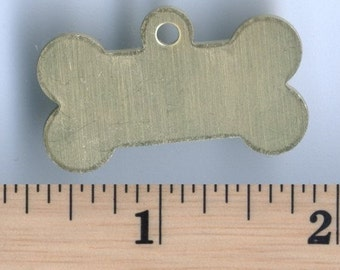 Brass Dog Bone Tag - Package of 5