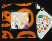 Halloween Pumpkin Mini I Spy Bag, eye spy bag with detachable clip, word, and picture card, jack-o-lanterns