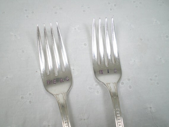 Vintage His and Hers Forks