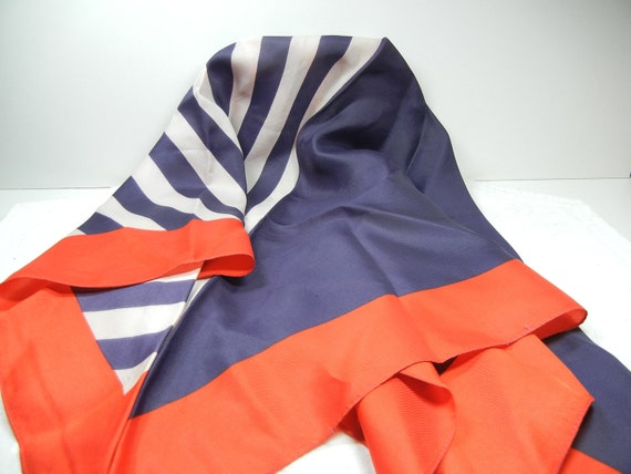 Ladies Scarf in red  white and blue / Veterans Day / Memorial Day / American Flag handkerchief / July 4 / Picnic / Spirit / Xmas gift