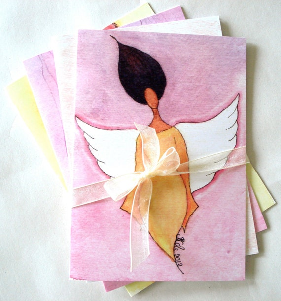 Pack of Four African American Greeting Cards