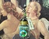 Green Fairy Absinthe Potion Bottle ooak dollhouse miniature in one inch scale