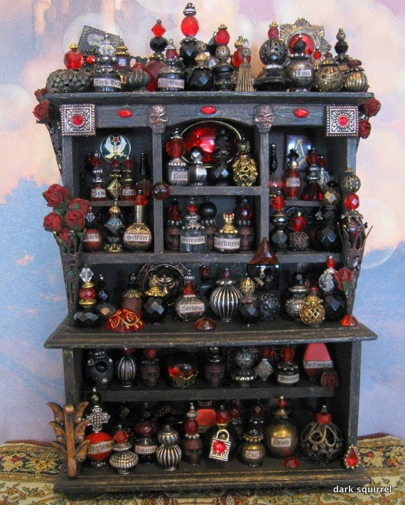 Dark Heart a Gothic Assemblage Cupboard OOAK in 1/12 scale by Dark Squirrel Victoria