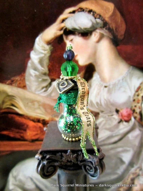 Dragon's Tears Potion Bottle dollhouse miniature in one inch scale