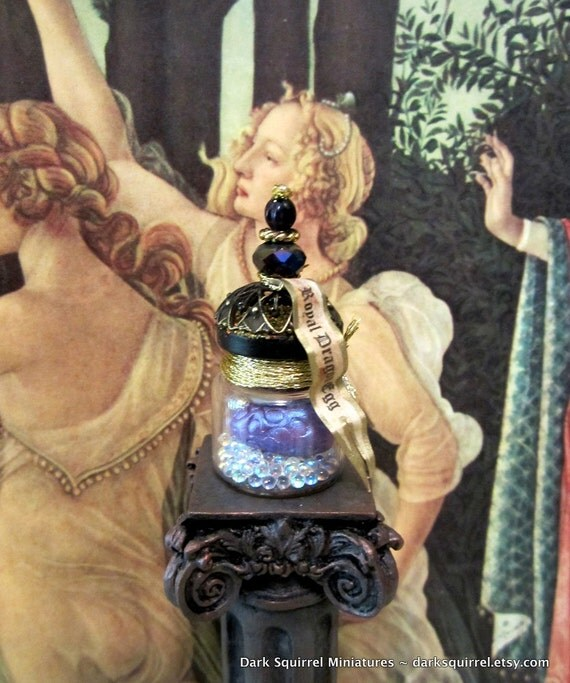 Royal Dragon Egg Potion Bottle dollhouse miniature in one inch scale ooak