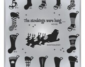 Christmas Stocking SVG - The Stockings Were Hung SVG - Ai Eps Svg Gsd - Christmas Cutting Files for Cricut and Silhouette