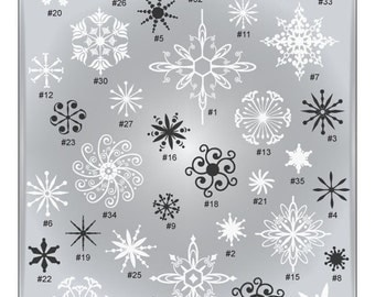Snowflake SVG Files - Winter Cuttable SVG Files - Snowflake Vector Art - Ai Svg Gsd Eps - Snowflake Cutting Files for Cricut or Silhouette