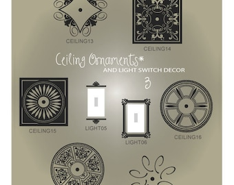 Ceiling Decal SVG Files - Light Switch Decal SVG - Ceiling Sticker SVG - Light Switch Sticker Svg - Decorative Vectors Ai Eps Svg Gsd