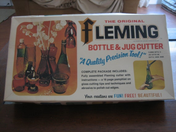 1970's Fleming Bottle and Jug Cutter. Boxed with Instructions.Looks Unused. Great Recycle Hobbie Kit.