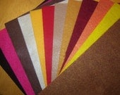 12 colors of Eco-Fi felt made in USA from recycled post-consumer plastic bottles -assortment 2
