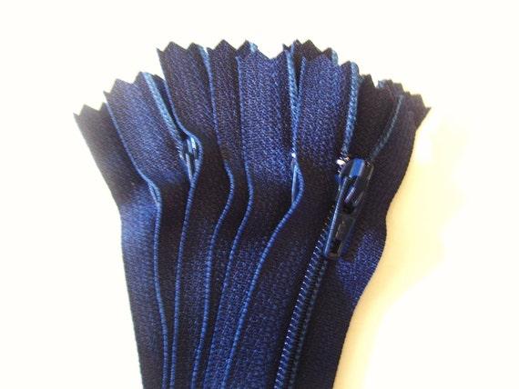 18 inch YKK zippers - 10 navy zippers - YKK color 920