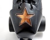 DA-45 Leather Skate Toe Guards with Copper Stars
