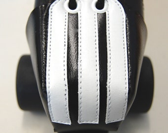 Leather Toe Guards with Ref Stripes