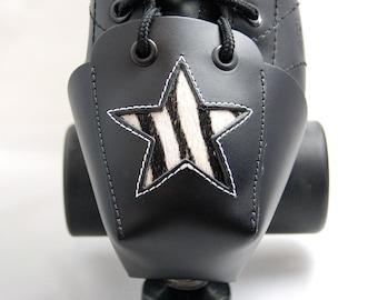 DA-45 Leather Toe Guards with Zebra Stars