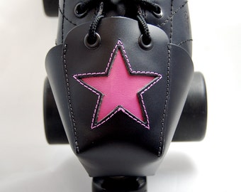 DA-45 Leather Toe Guards with Hot Pink Star