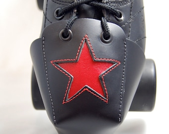 DA-45 Leather Toe Guards with Red Stars
