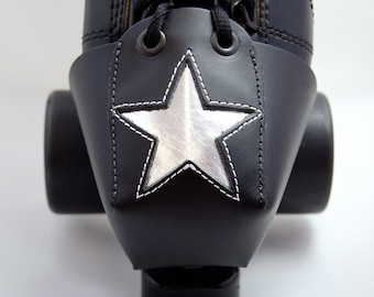 Leather Skate Toe Guards with Silver Stars