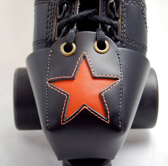 Leather Toe Guards with Orange Star