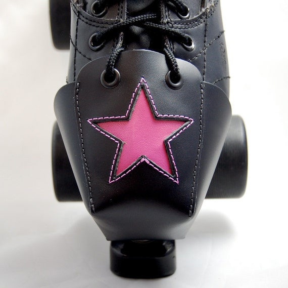 DA-45 Leather Toe Guards with Pink Leather Stars