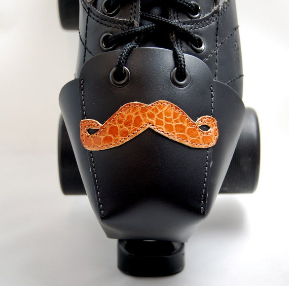 DA-45 Leather Toe Guards with Mustaches