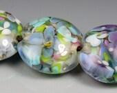 Springtime Florals lampwork glass beads