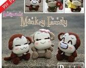 PDF Pattern - Amigurumi Monkey Family