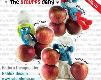PDF Pattern - Amigurumi The Smurfs Gang