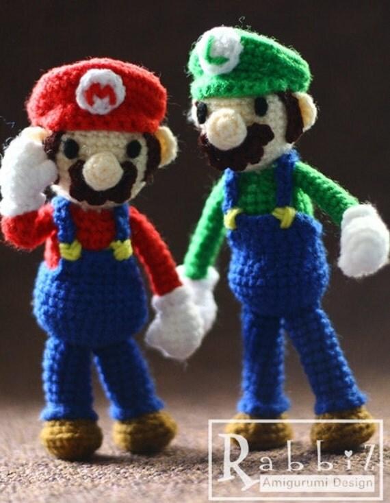 Amigurumi Mario Y Luigi : Amigurumi Mario and Luigi Finished Dolls by rabbizdesign ...