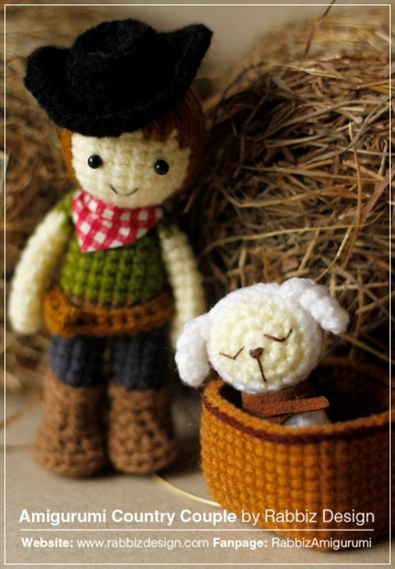 Amigurumi Cowboy : Amigurumi Cowboy, Cowgirl, and Lamb Pattern from ...