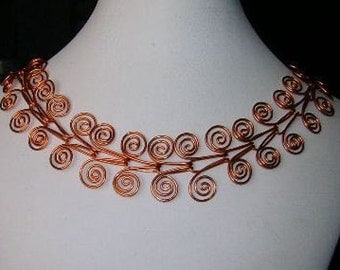 Filigree Copper Necklace