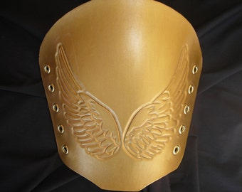 Leather Bracers Wings, Angelic,